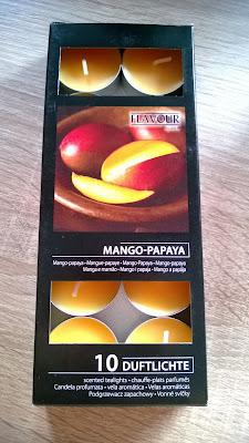 Teekerzen mit Mango-Papaya Duft