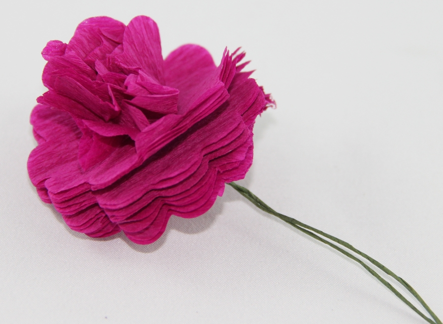 Carnation Crepe Paper Flower Tutorial Jinkys Crafts