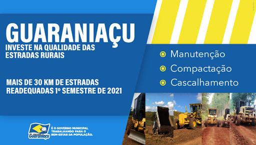 Guaraniaçu - Investe na qualidade das estradas rurais