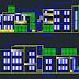 مشروع عمارة سكنية من طابقين اتوكاد dwg