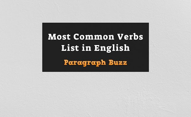 Most Common Verbs List in English