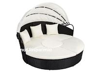 Logo TecTake Like&Win : vinci gratis 1 divano prendisole in alluminio e rattan (valore €360,69)