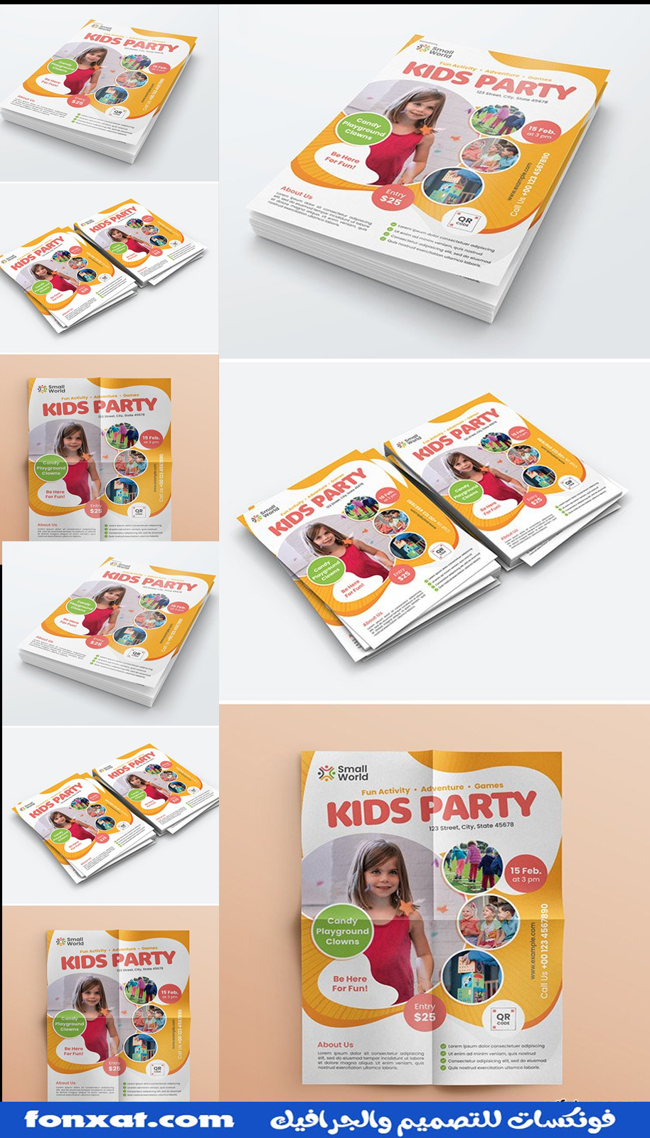 Download a flyer PSD for children that also fits a poster and book cover