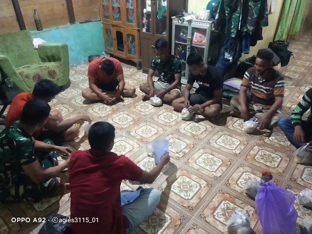 Puasa Sya'ban, Satgas TMMD Nikmati Santap Sahur Bersama