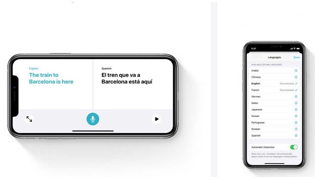 Apple Translation features