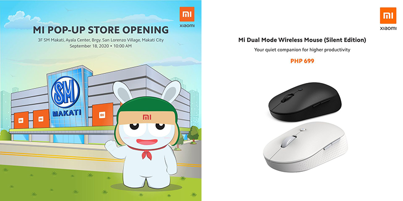 Xiaomi opens pop-up store in SM Makati, Mi Dual Mode Wireless Mouse (Silent Edition) arrives in PH
