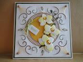Challenge 37 thema Bruin op je borduurkaart bij Steelsteekje!