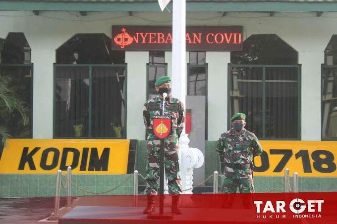 Dandim Pati Pimpin Gelar Upacara Corps Raport Anggota Baru