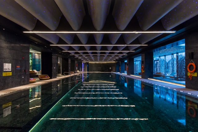 swimming pool at W Hotel Xi'an China