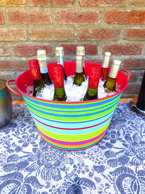 Self serve bar baby shower bright colored bucket