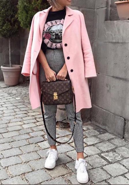 Outfits con blazer rosado