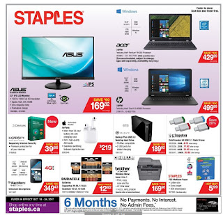 Staples Ontario Flyer October 18 - 24, 2017
