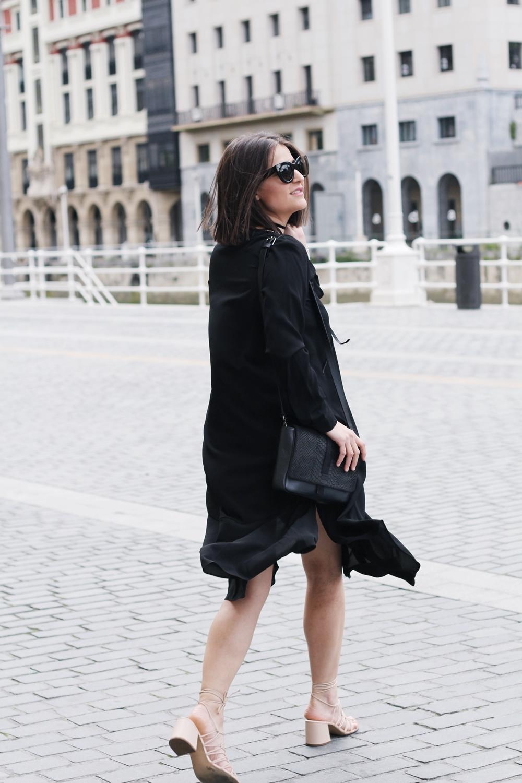 COS BLACK DRESS, CELINE SUNGLASSES