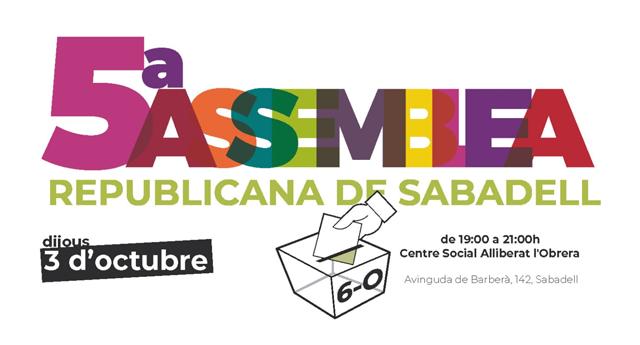 El 6 de octubre Sabadell elegirá entre monarquía y república en una consulta popular