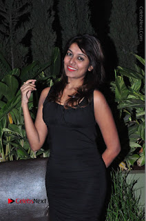 Actress Kavya Kumar Stills in Black Short Dress at F Club pre soft Launch  0014.JPG