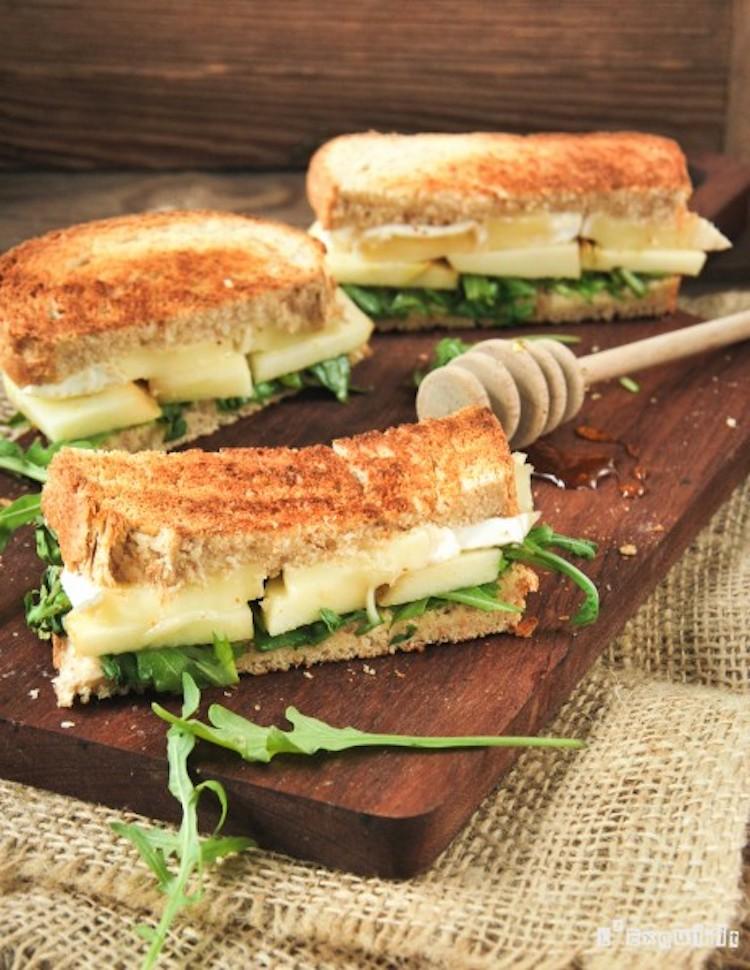 receta sándwich brie y manzana