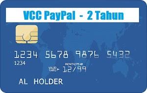 Jual VCC MasterCard Untuk Verifikasi PayPal - 2 TAHUN (Cepat / Instan)