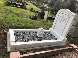 Grave of Lily Thomas after restoration