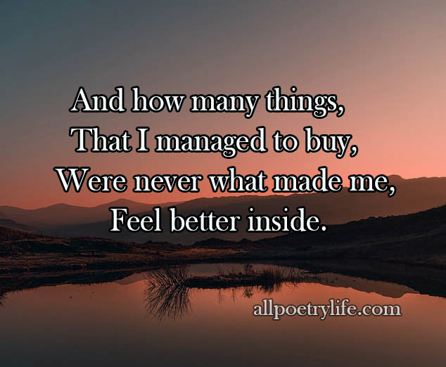 And how many things | English poetry on life poems quotes,