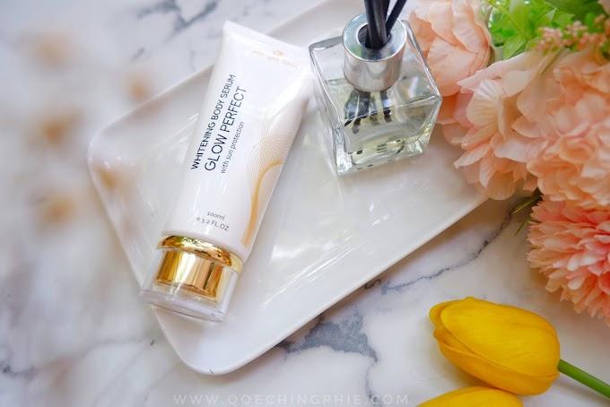 Review Whitening Body Serum Glow Perfect Dari eBright Skin, skincare aman untuk ibu hamil dan menyusui