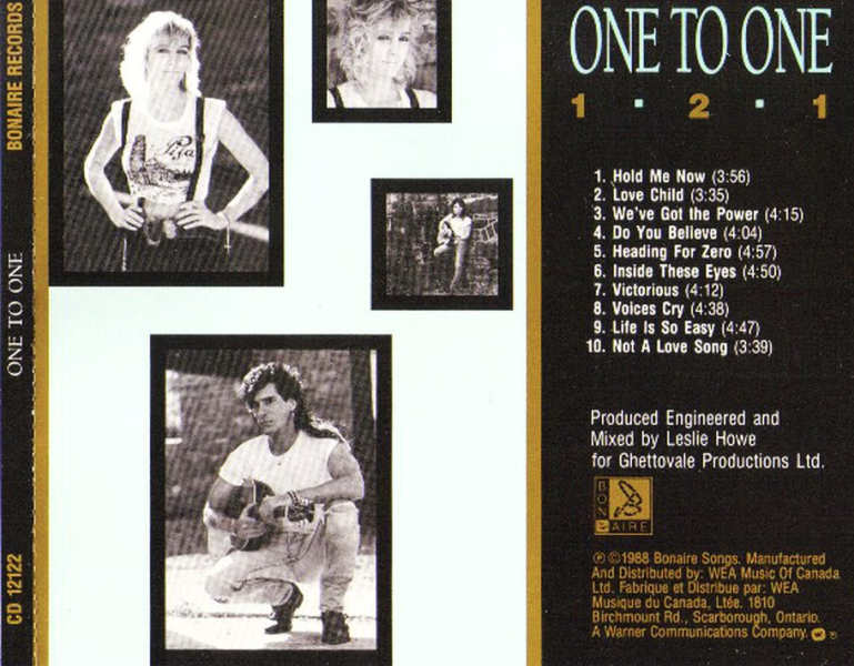 ONE TO ONE - 1-2-1 (1988) back