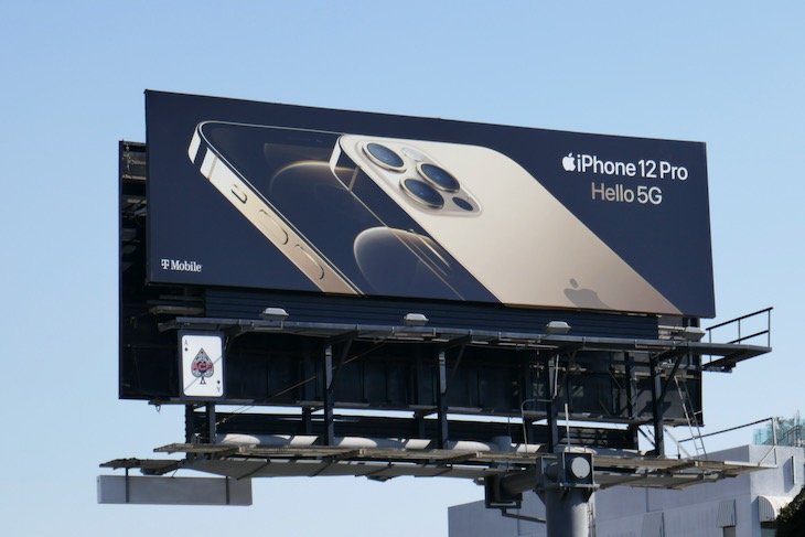 Apple iPhone 12 Pro Hello 5G billboard