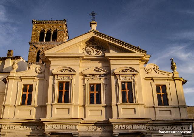 Ilha Tiberina, Igreja de San Bartholomeo, Roma