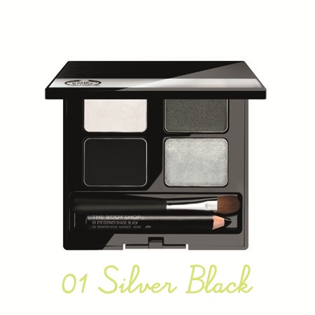 The Body Shop, 4-Step Smoky Eyes, 01 Silver Black