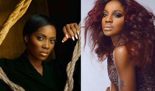 """""""Your Ny*sh Is The Dirtiest In The Industry"""" - Tiwa Savage And Seyi Shay Fight Dirty In A Saloon In Lagos"""