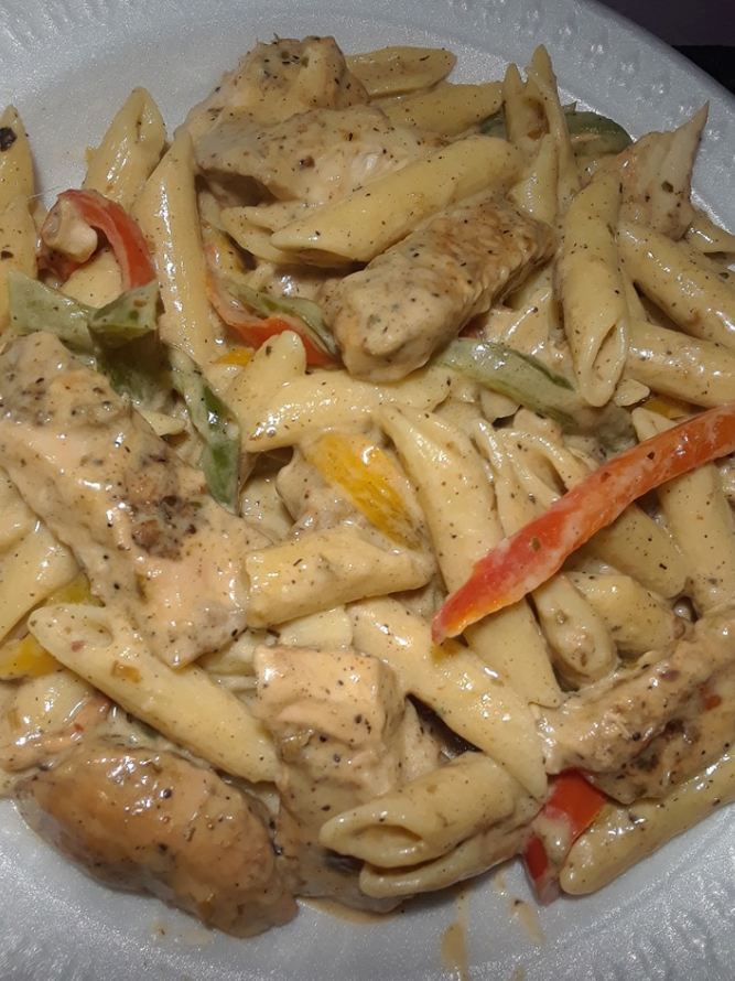 Rasta Pasta With Spicy Jerk Chicken