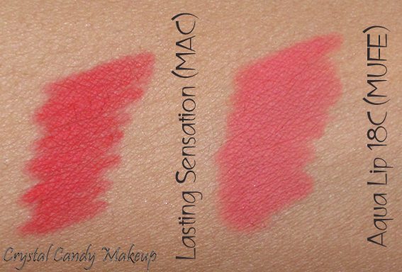 Crayon à lèvres Lasting Sensation de MAC (Collection Strength) Swatches