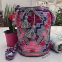Mini Mochila Wayuu a Crochet