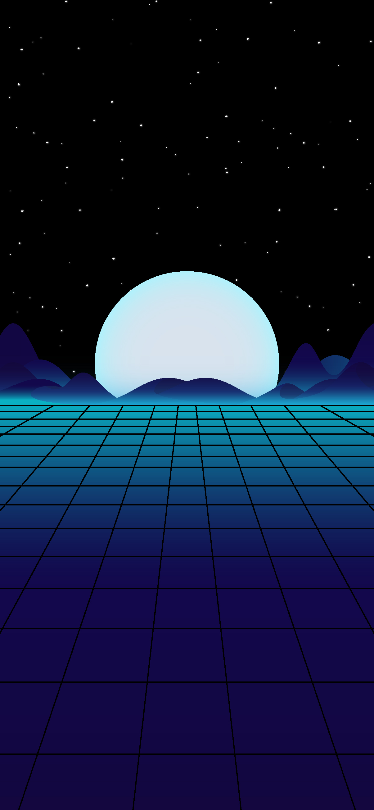 Beautiful and cool synthwave wallpaper night