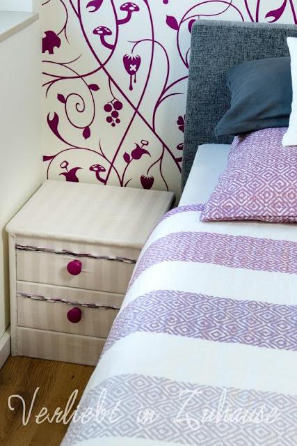 Lieblingsecke Schlafzimmer: Den Nachtschrank habe ich selber gemacht
