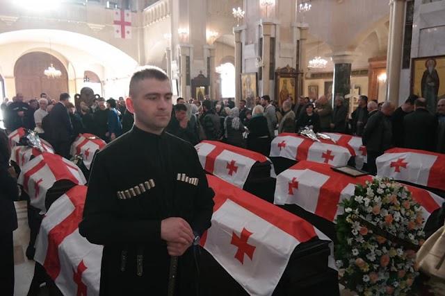 Сегодня тела грузинских героев, погибших в Абхазии 25 лет назад, будут преданы земле с воинскими почестями