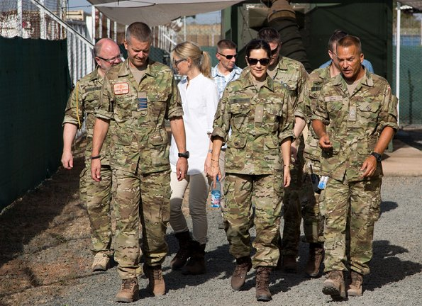 Crown Princess Mary wore floral dress at UNFPA, Danish C-130 cargo airplanes at MINUSMA in Mali