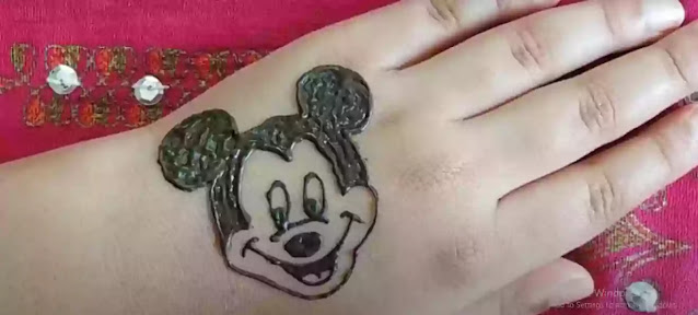MICKEY MOUSE DESIGN WITH mehndi
