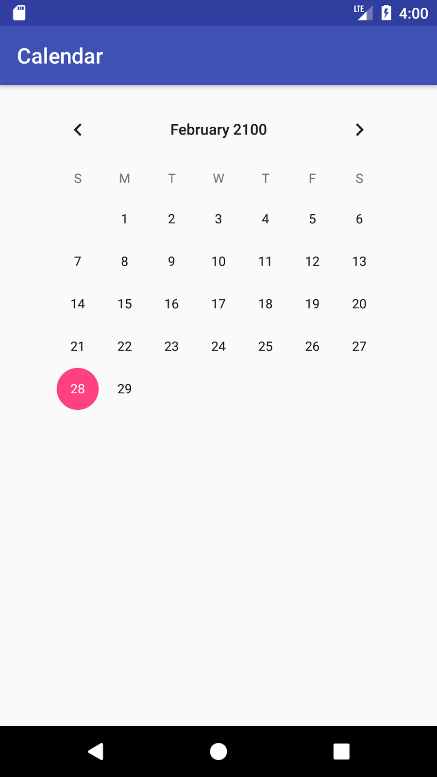 Gregorian calendar android example using pdfview