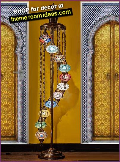 Turkish Moroccan Mosaic Tiffany Floor Lamp moroccan decor moroccan decorating