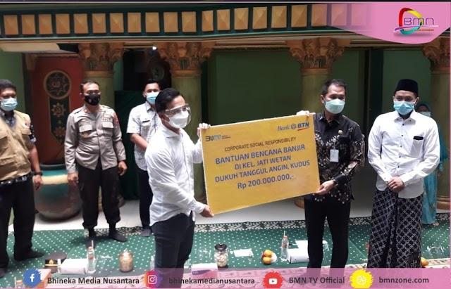Bank BTN Memberikan Bantuan CSR 200 Juta Pada Korban Banjir Jati Wetan Kudus