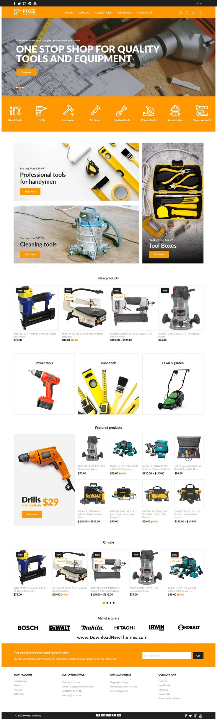 Tools Store Shopify Theme