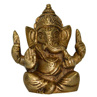 DronaCraft Hindu God Ganesha Small Brass Statue
