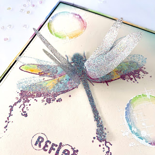 layered dragonfly wings | stamp | clear | rubber