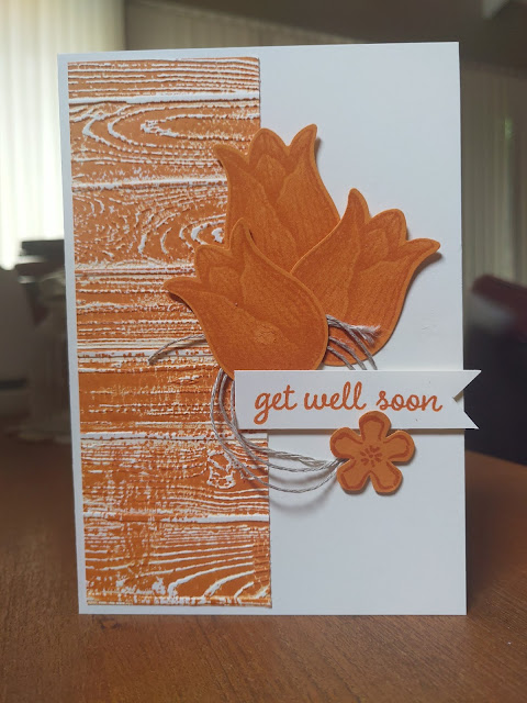 Pumpkin Pie Tulips Stampin' Up card