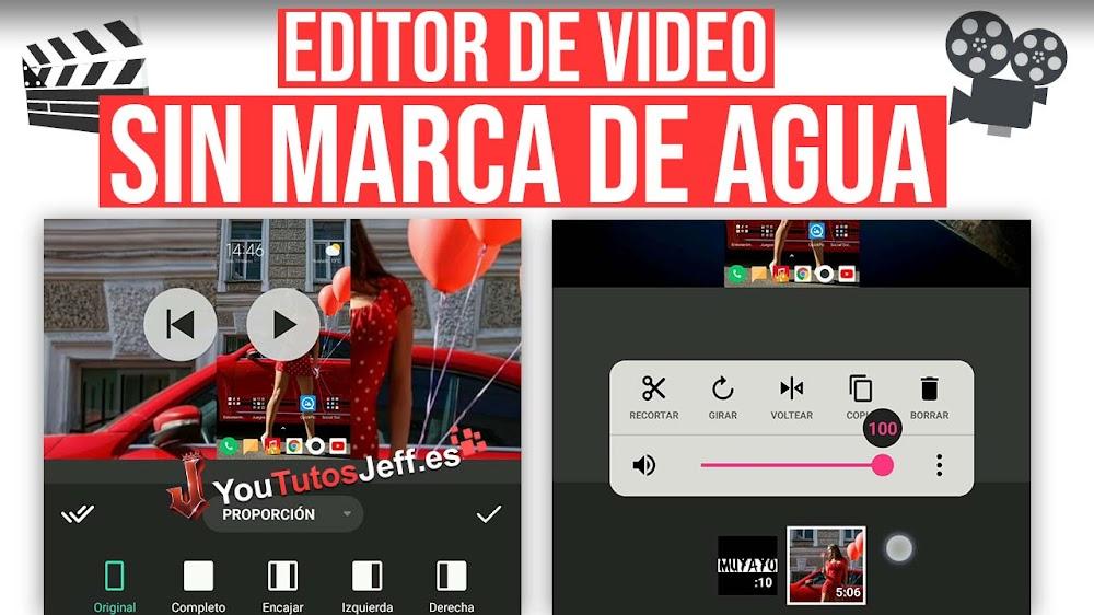 Editor de Vídeo Sin Marca de Agua para Android