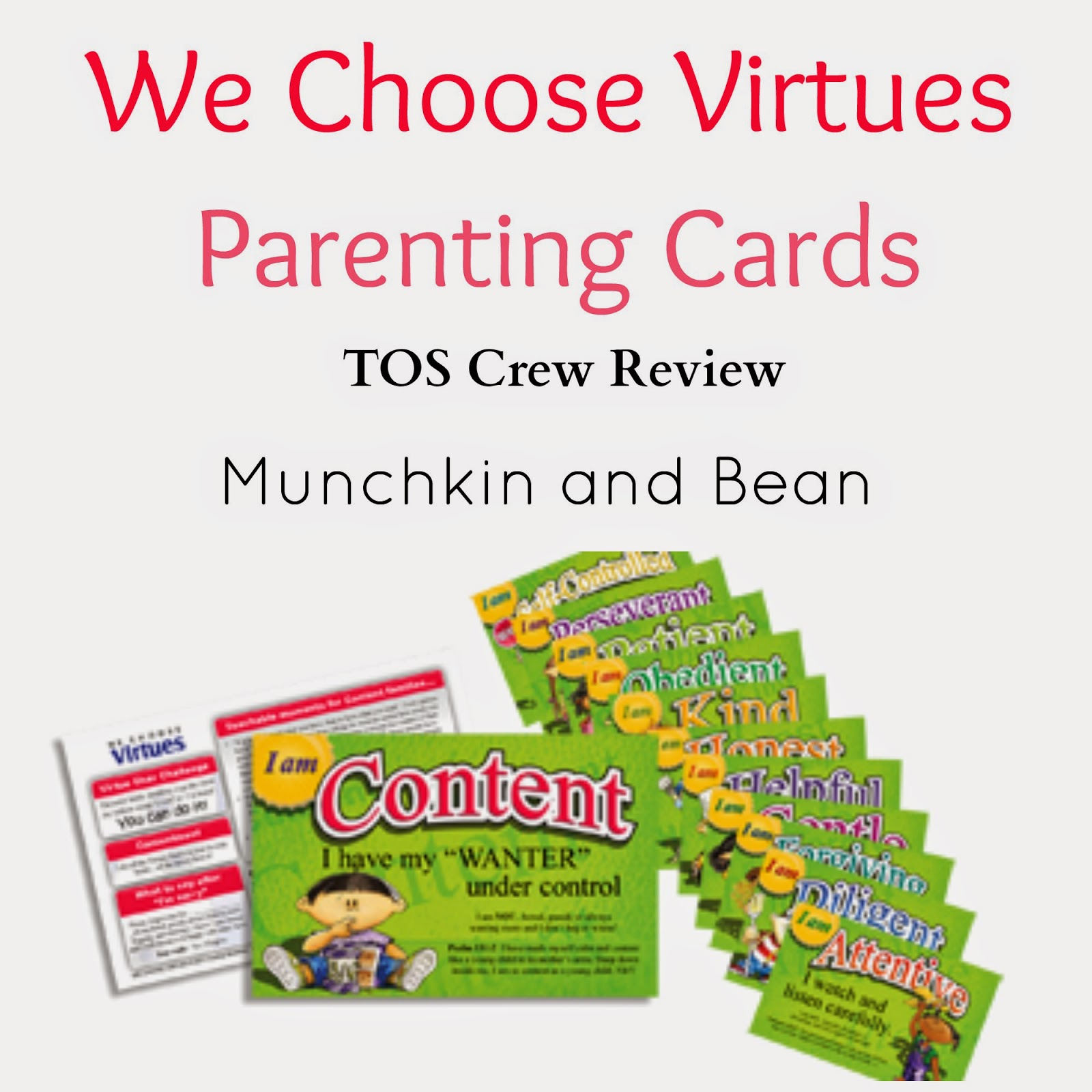 Munchkin And Bean: We Choose Virtues Parenting Cards Review