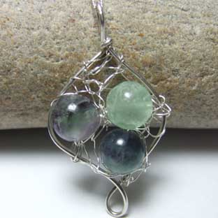 Fluorite gemstone jewellery