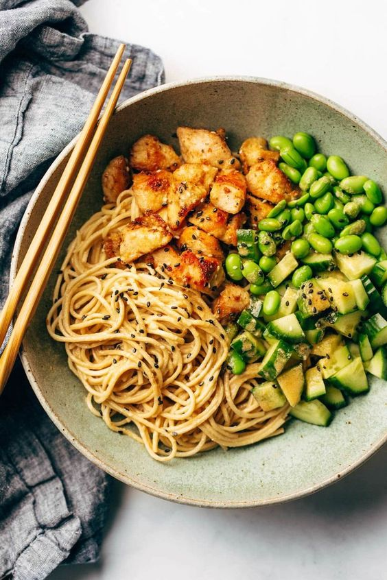 sesame noodle bowls #recipes #healthymeals #food #foodporn #healthy #yummy #instafood #foodie #delicious #dinner #breakfast #dessert #lunch #vegan #cake #eatclean #homemade #diet #healthyfood #cleaneating #foodstagram