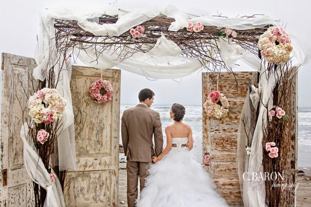 Beach-Wedding-Ceremony Partecipazione tema mare shabbyPartecipazioni shabby chic - country - vintage Tema mare