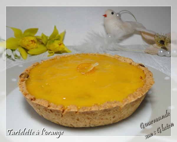 Tarte scandaleuse à l'orange sans gluten
